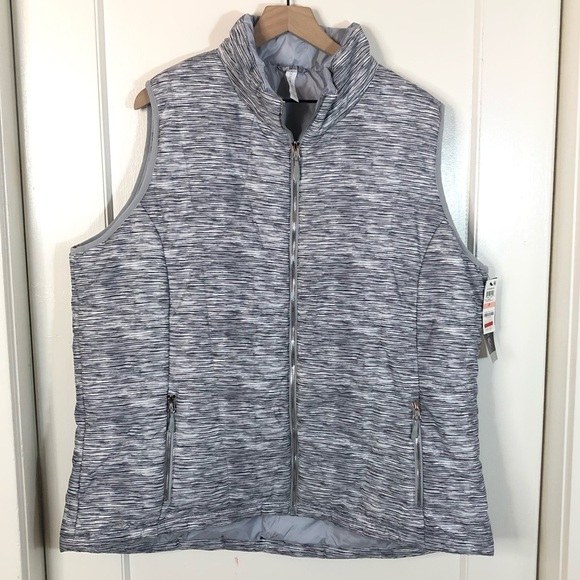 Ideology Jackets & Blazers - Ideology NWT space dye puffer vest athletic 2X